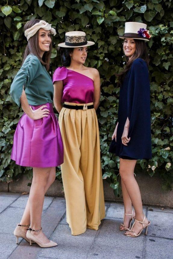Tres formas distintas de ir a una boda: falda, pantalón y vestido. Elige la que mejor te siente.